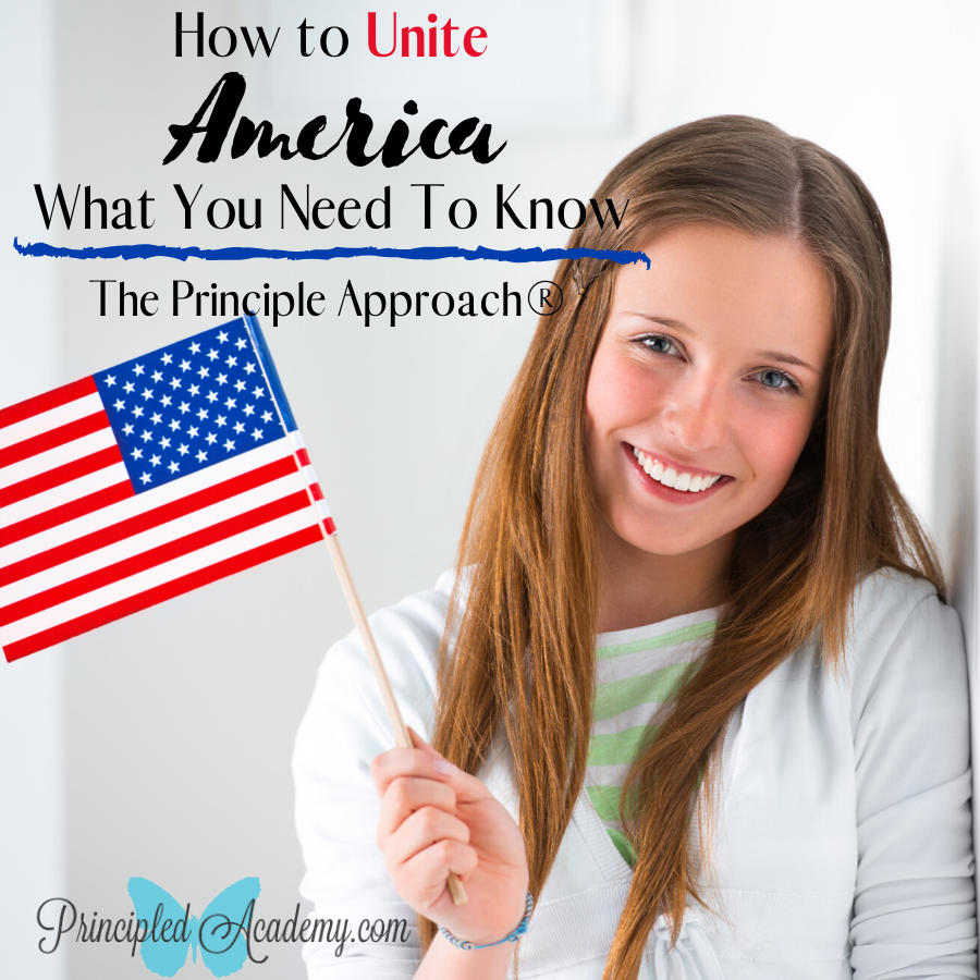 How to Unite America, The Principle Approach, Homeschooling, Christian Homeschooling, Principled Acadmy, Biblical Classical Homeschoolers, American History